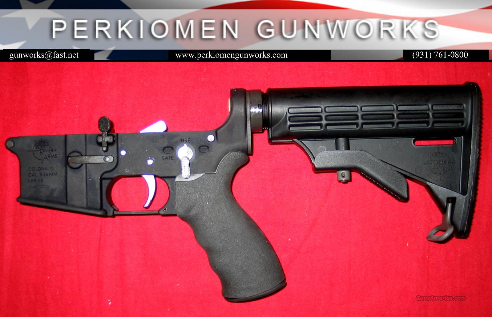LAR-15 NM Complete Lower w/extras, Chrome Trigger, Tact Stock+- NEW  Guns > Rifles > Rock River Arms Rifles