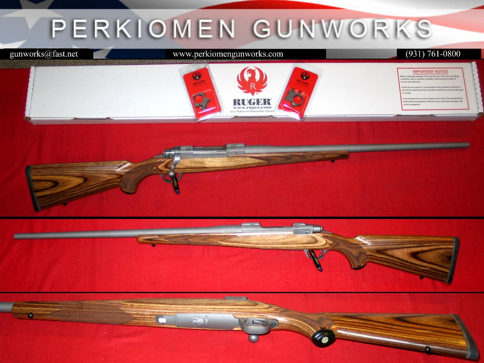 77 HE Sporter SS/Bro Laminated - 338 Win Mag, NIB  Guns > Rifles > Ruger Rifles > Model 77