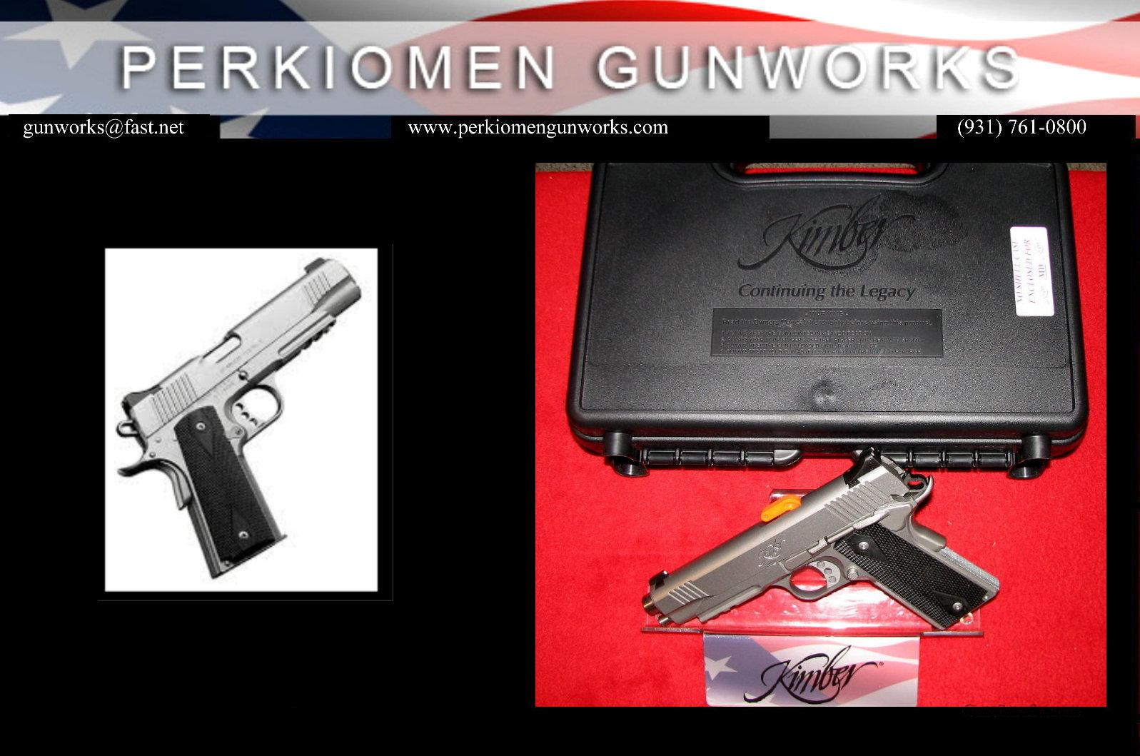 "Stainless TLE/RL, 45acp, 5"", New in Box.  Guns > Pistols > Kimber of America Pistols"