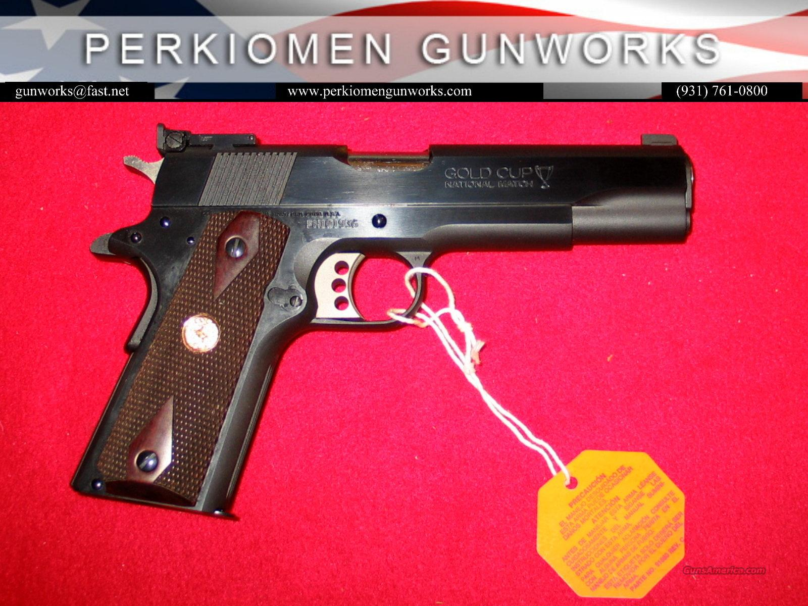 "Gold Cup National Match, 45acp, Blue, 5"", New in Box!  Guns > Pistols > Colt Automatic Pistols (1911 & Var)"