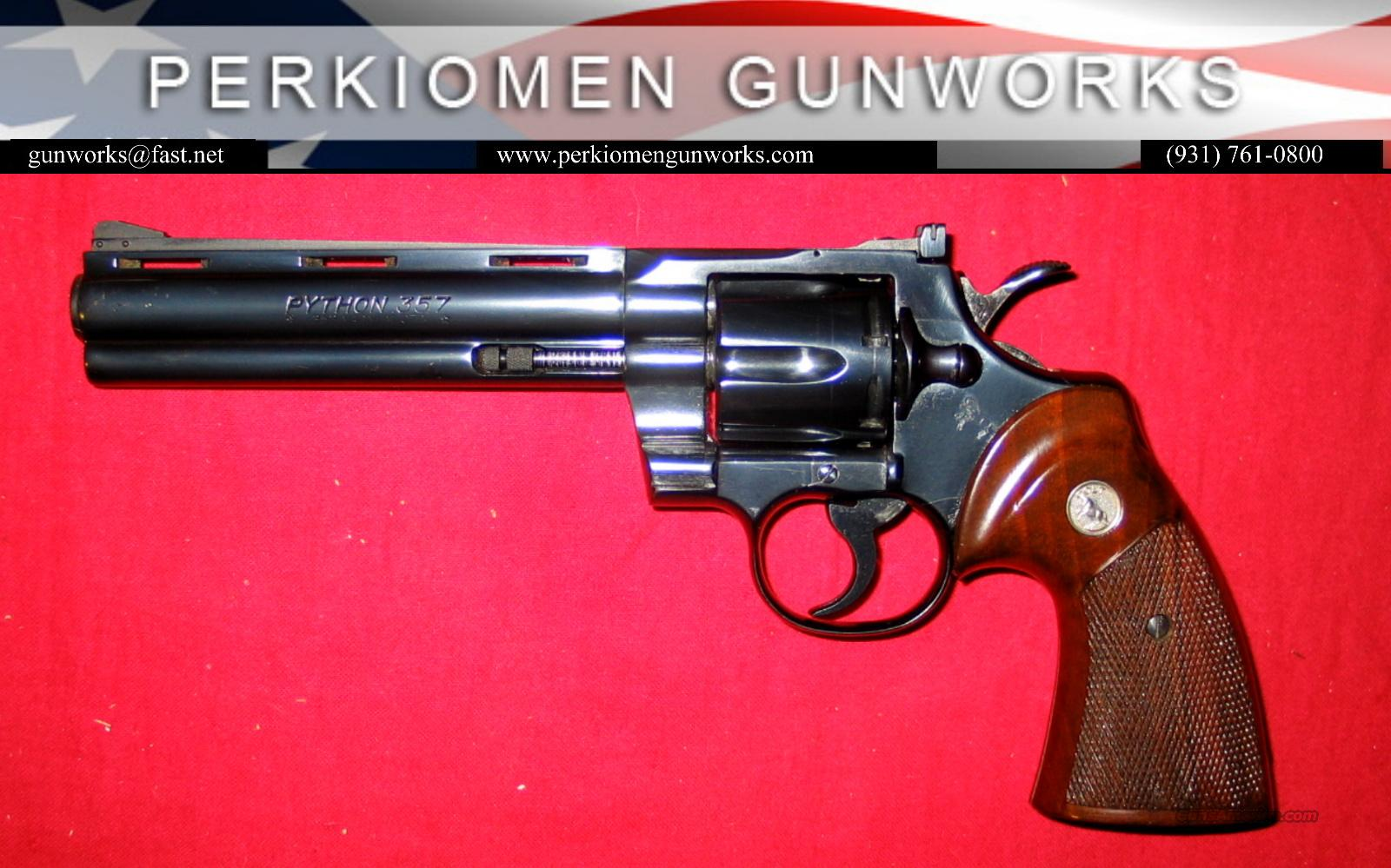 "Python .357. 6"", Blue - like new-no box  Guns > Pistols > Colt Double Action Revolvers- Modern"