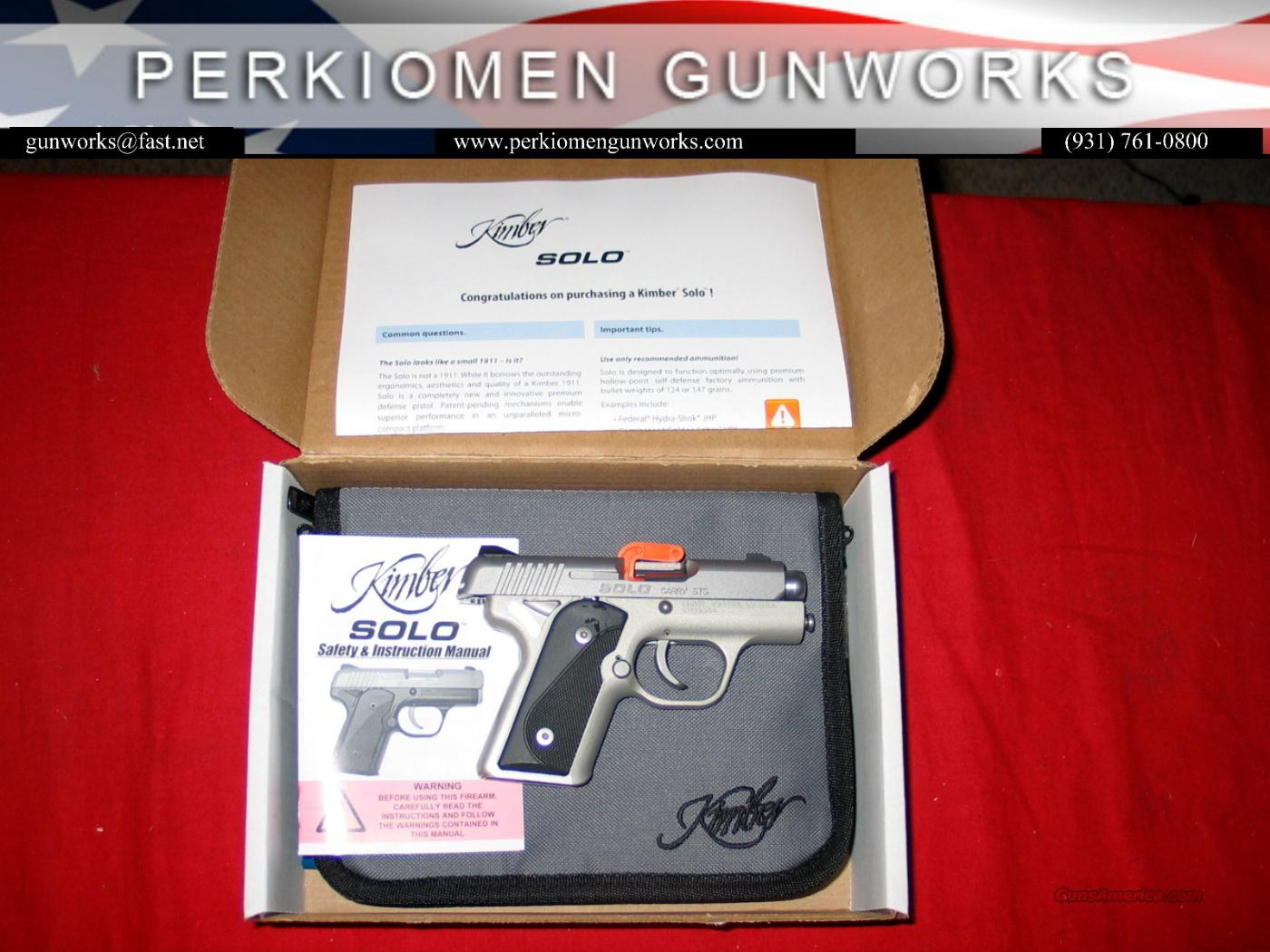 Solo Carry Stainless, 9MM, New in Box.  Guns > Pistols > Kimber of America Pistols