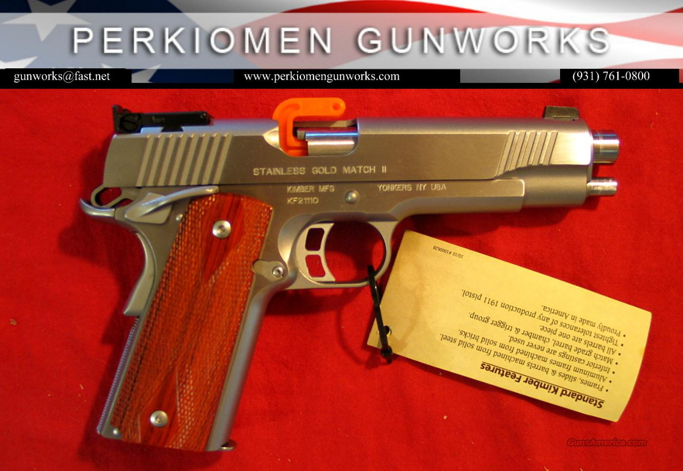 "Stainless Gold Match, 9MM, 5"", New in Box  Guns > Pistols > Kimber of America Pistols"