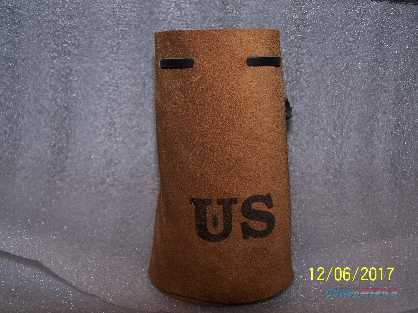 54 cal muzzleloader US Leather bag with 31 RB bullets.  Non-Guns > Black Powder Cartridge