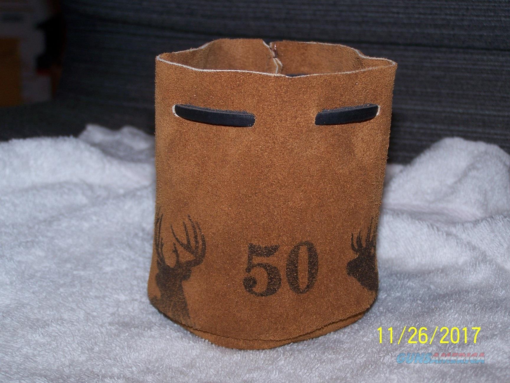 50 cal muzzleloader Leather bag with 40 RB bullets  Non-Guns > Black Powder Cartridge