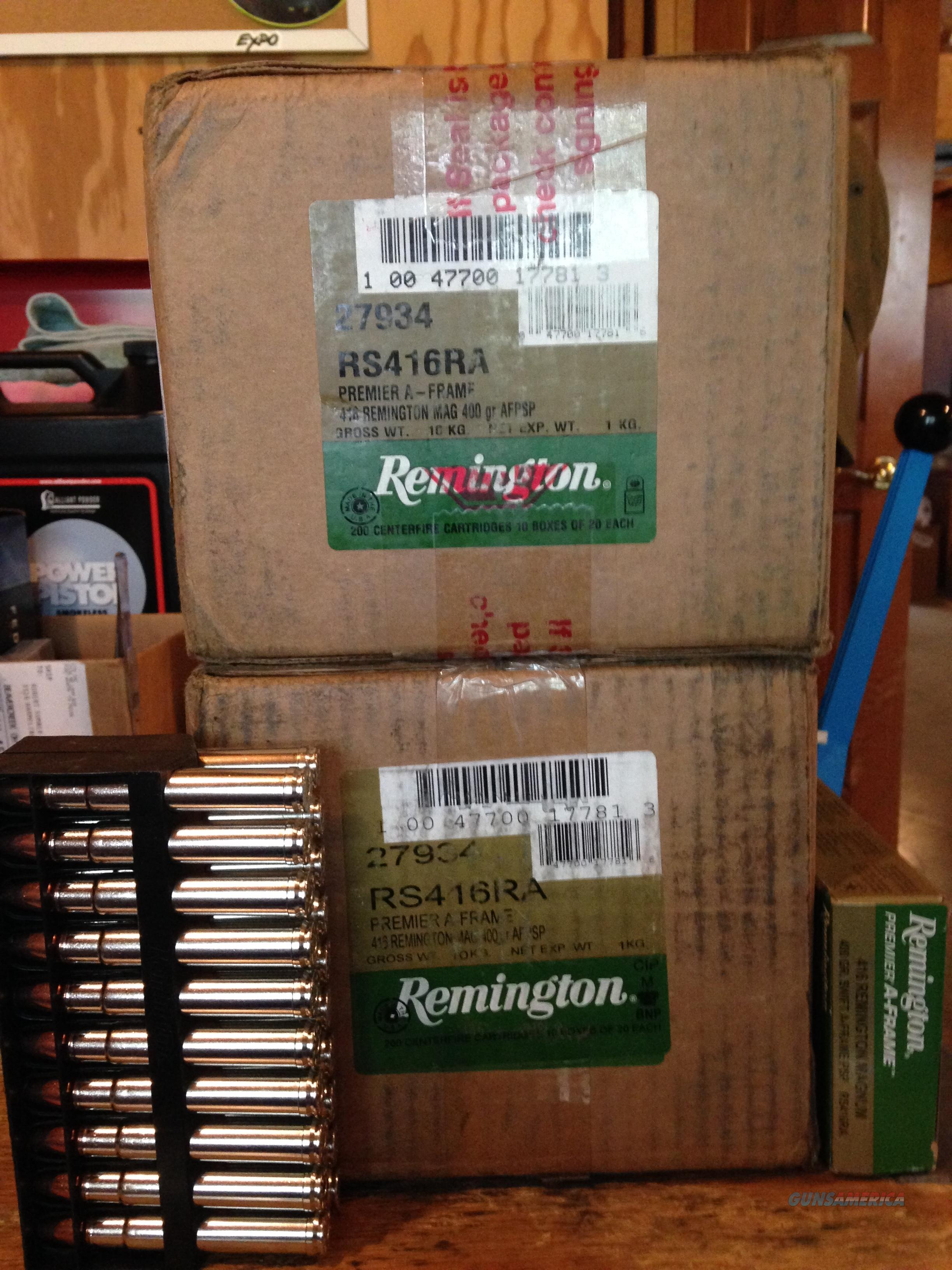 Remington 416 Rem Mag Premier 400g Swift A-frame  Non-Guns > Ammunition