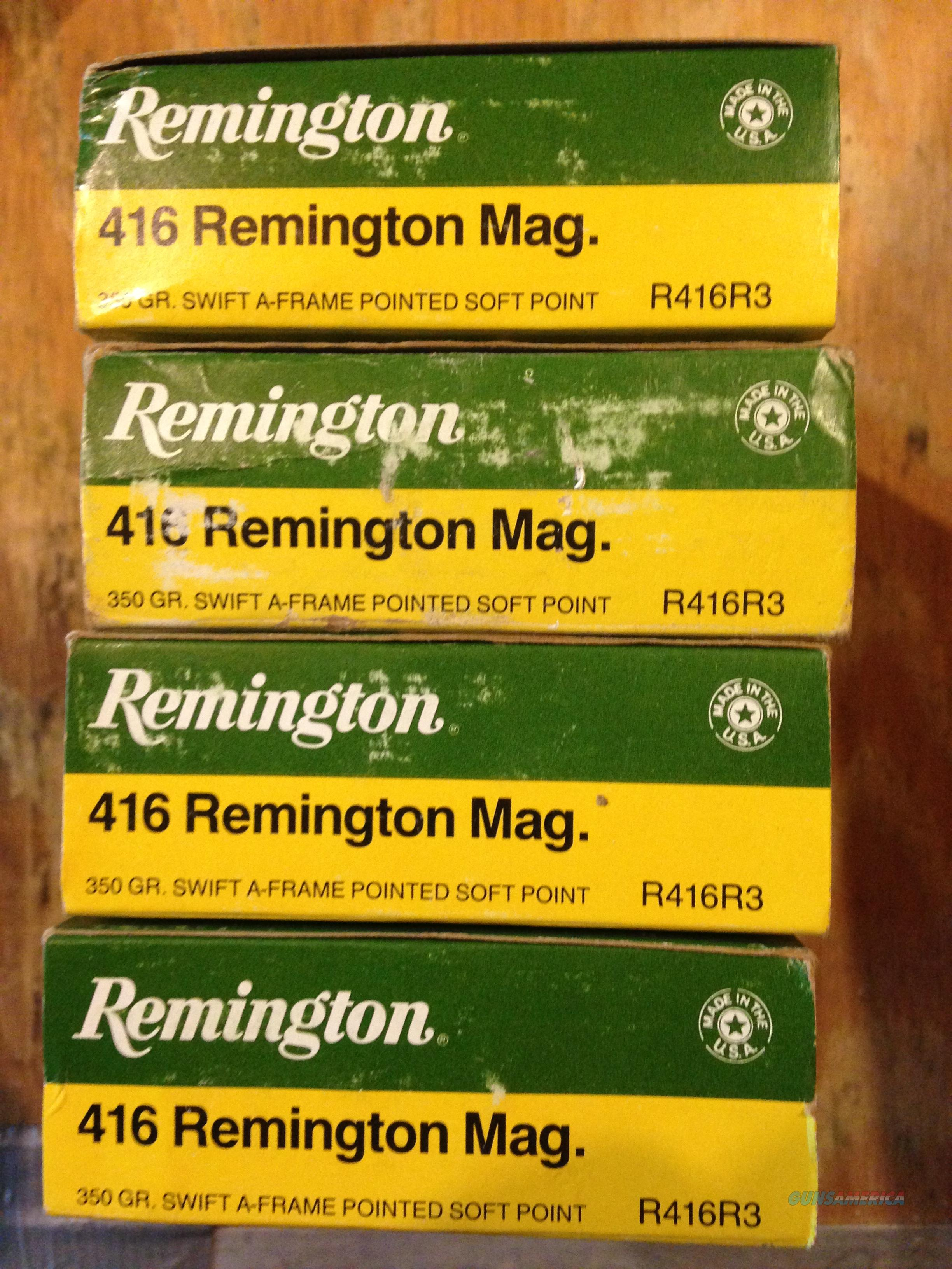 Remington 416 Rem Mag 350gr Swift A-Frame  Non-Guns > Ammunition