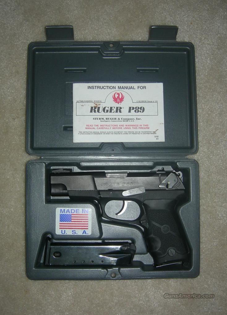 RUGER P89 9MM EXCELLENT CONDITION  Guns > Pistols > Ruger Semi-Auto Pistols > P-Series