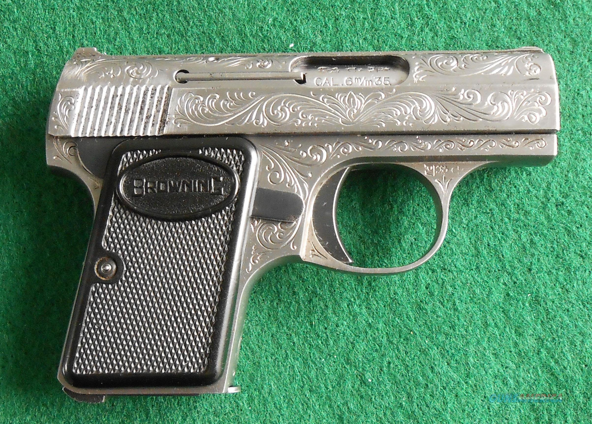 BABY BROWNING - ENGRAVED  Guns > Pistols > Browning Pistols > Baby Browning