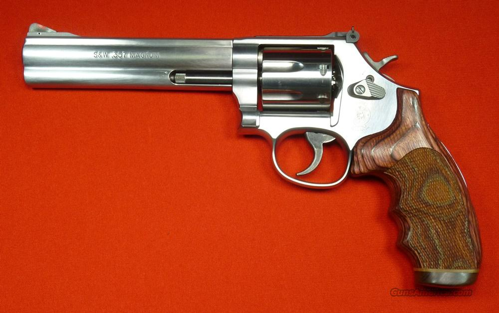 "S&W 686-8 6"" Stnls, Custom Grips  Guns > Pistols > Smith & Wesson Revolvers > Full Frame Revolver"
