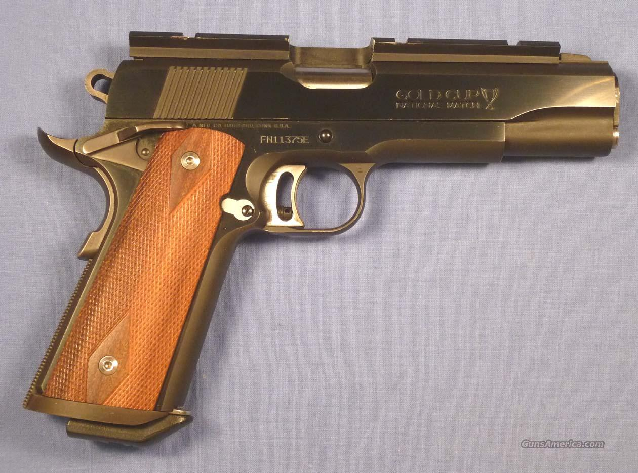Colt Series 80 Gold Cup Nat'l Match  Guns > Pistols > Colt Automatic Pistols (1911 & Var)