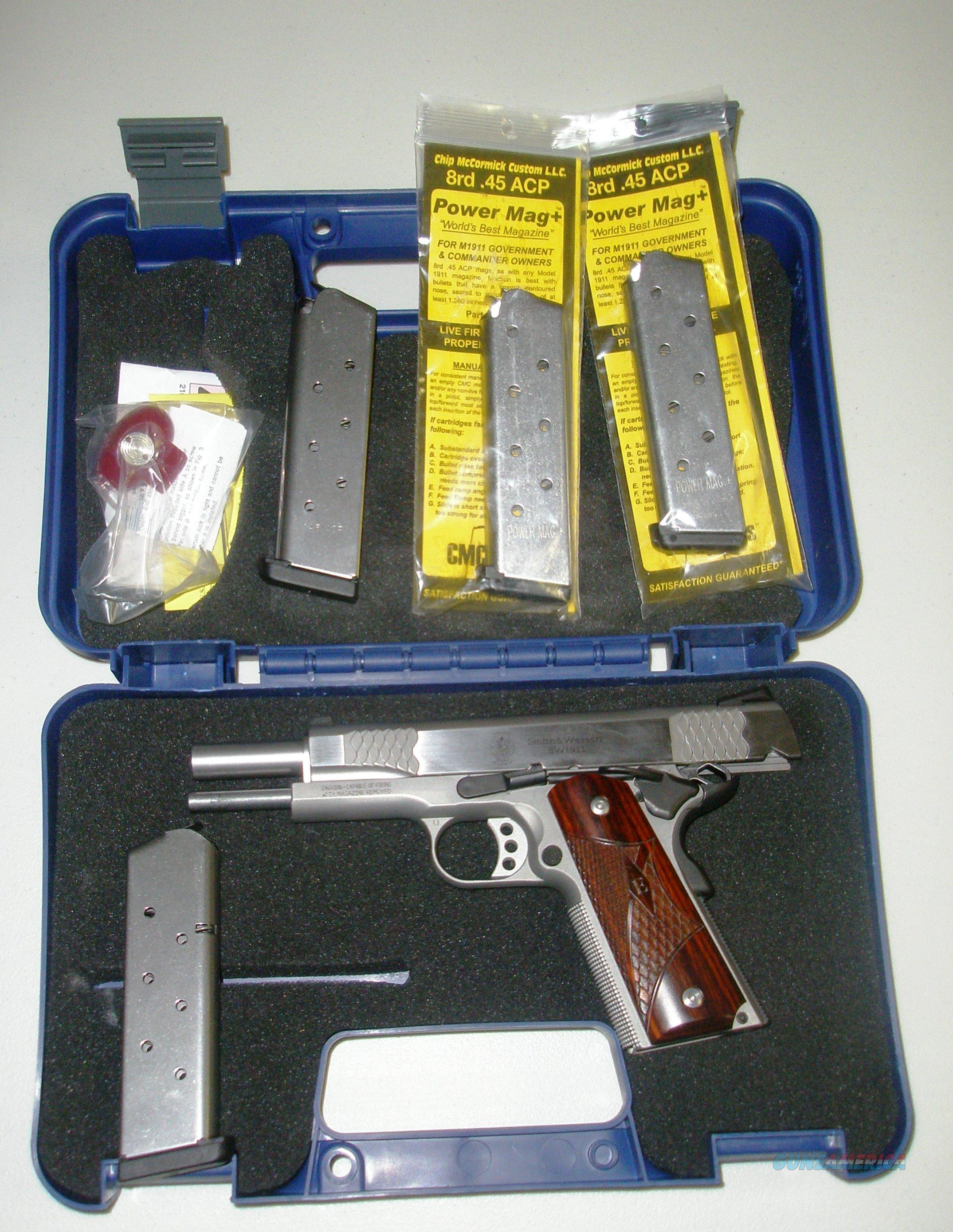 SW 1911E - NIB- with 4 magazines  Guns > Pistols > Smith & Wesson Pistols - Autos > Steel Frame