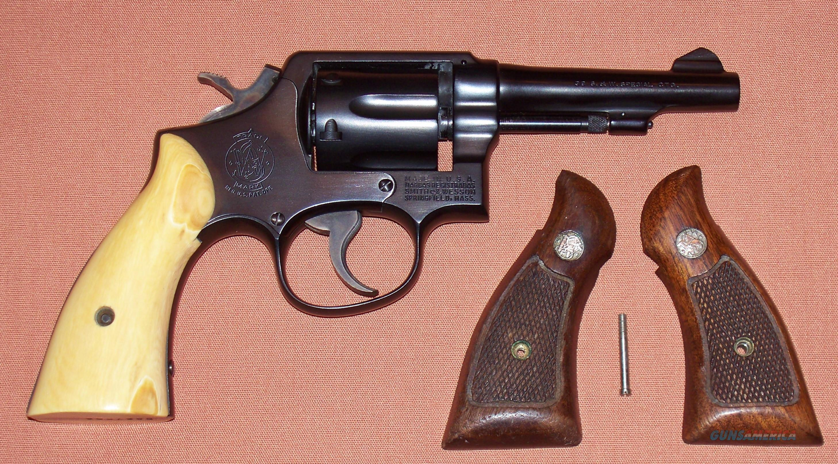 Smith & Wesson Model 10-5 .38 Special with Ivory Grips c. 1966-7  Guns > Pistols > Smith & Wesson Revolvers > Model 10