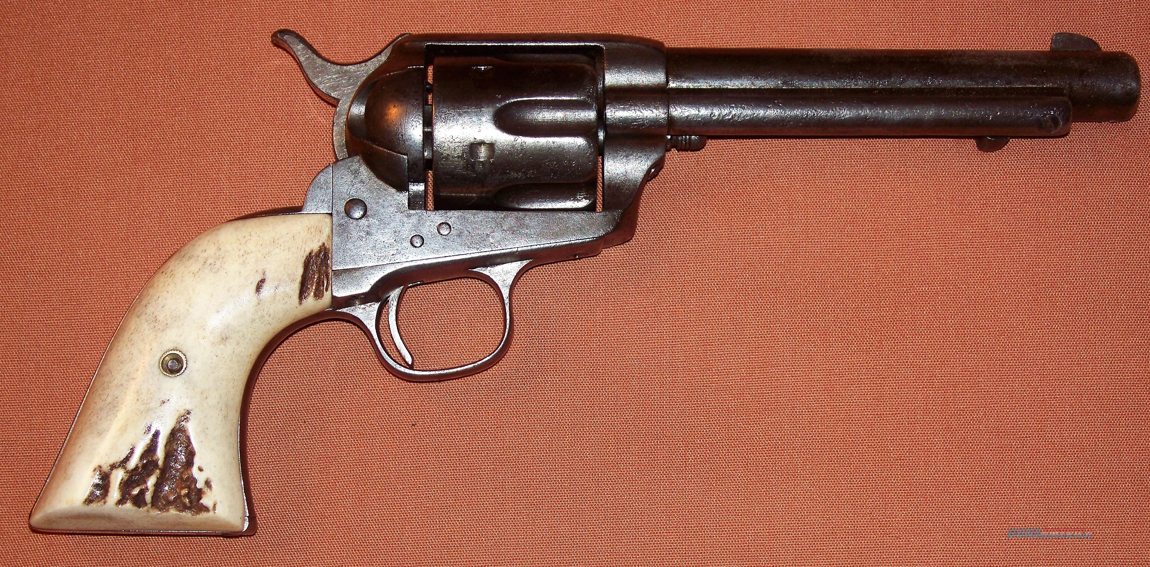 """Colt 1st Generation SAA Single Action Army Revolver 45 Cal. Nickel 5.5"""" Barrel, Texas Shipped, c. 1883 ANTIQUE  Guns > Pistols > Colt Single Action Revolvers - 1st Gen."""