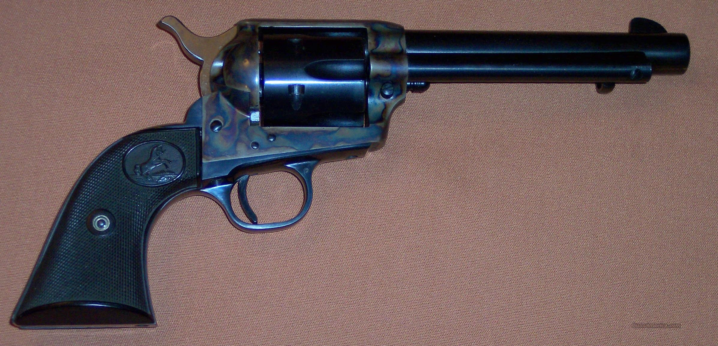 "Colt 2nd Generation Single Action Army SAA, 5.5"" Barrel, .357 Cal. with Stagecoach Box c. 1970  Guns > Pistols > Colt Single Action Revolvers - 2nd Gen."