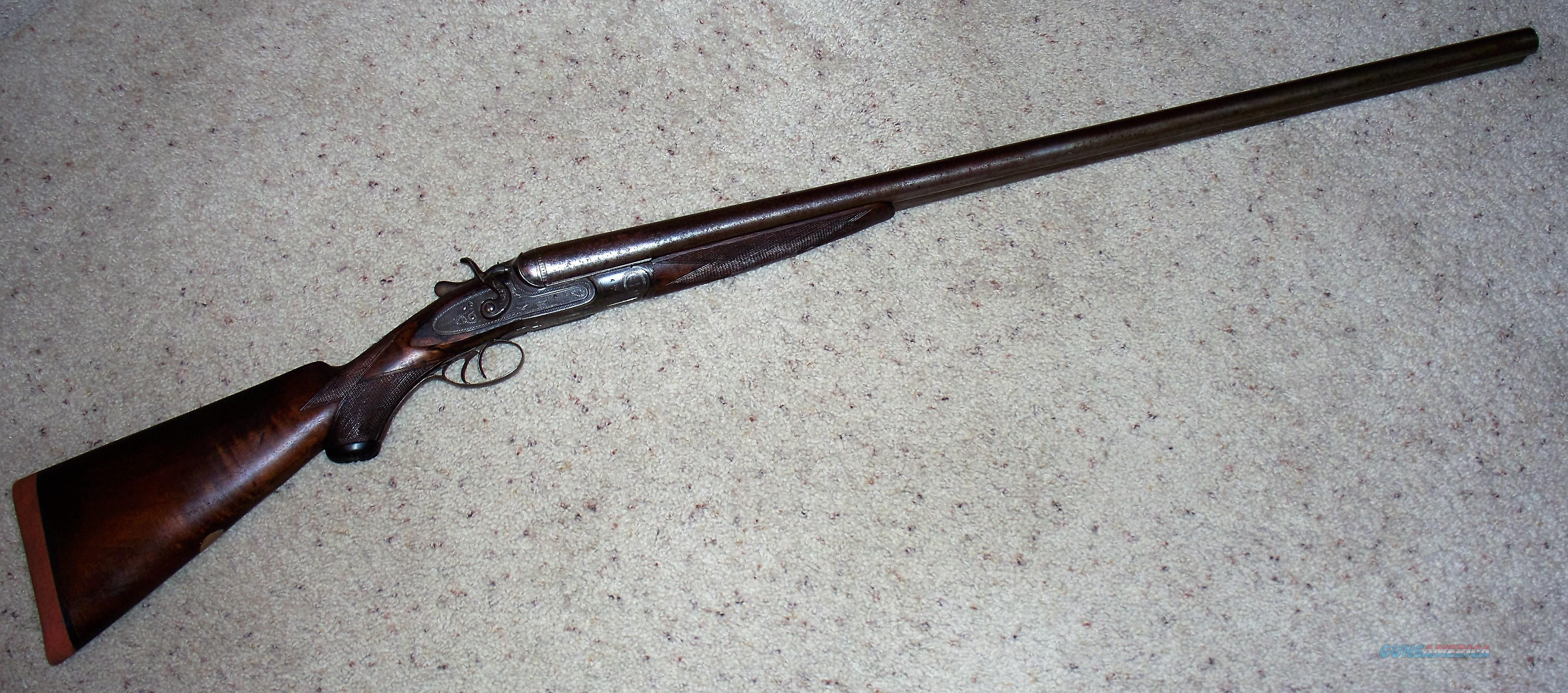 W. Richards English Made 8 Gauge Double Barrel Shotgun - ANTIQUE  Guns > Shotguns > R Misc Shotguns