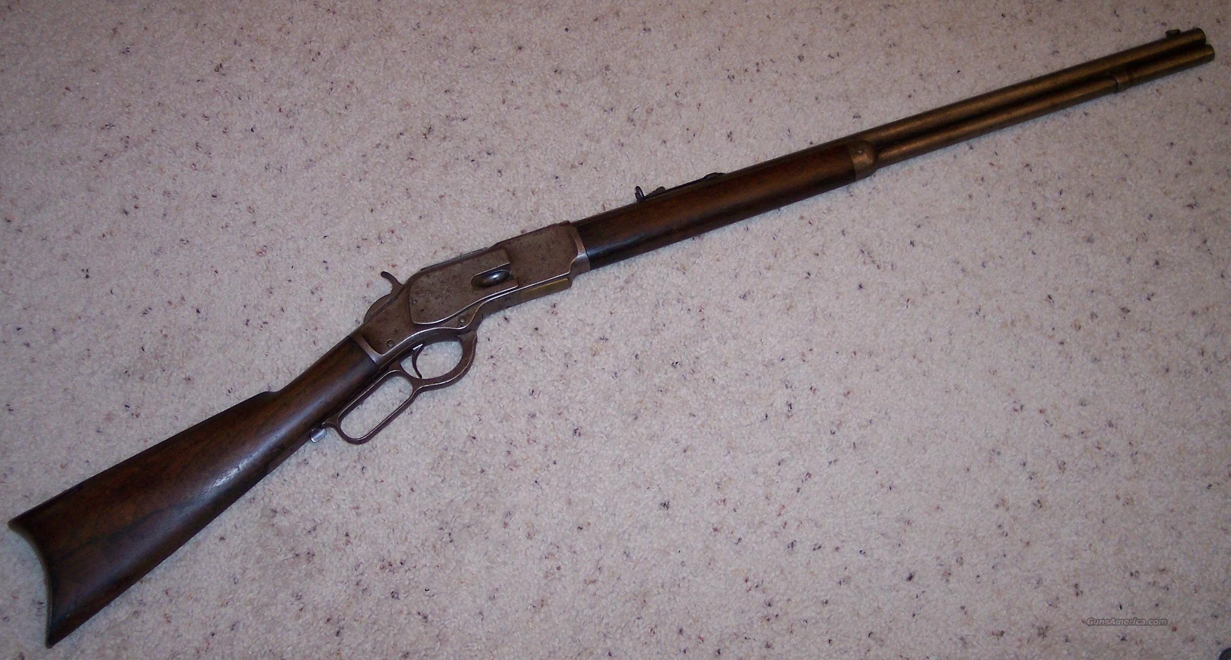 Winchester 1873 .38WCF Round Barrel Rifle  Guns > Rifles > Winchester Rifles - Pre-1899 Lever
