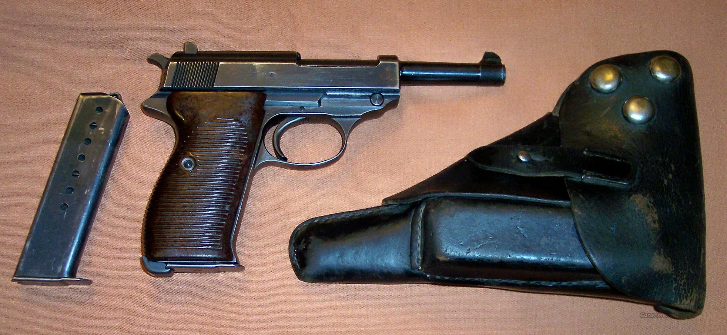 Walther P38 WWII (byf43) 9mm with Holster & Extra Mag.  Guns > Pistols > Walther Pistols > Pre-1945 > P-38