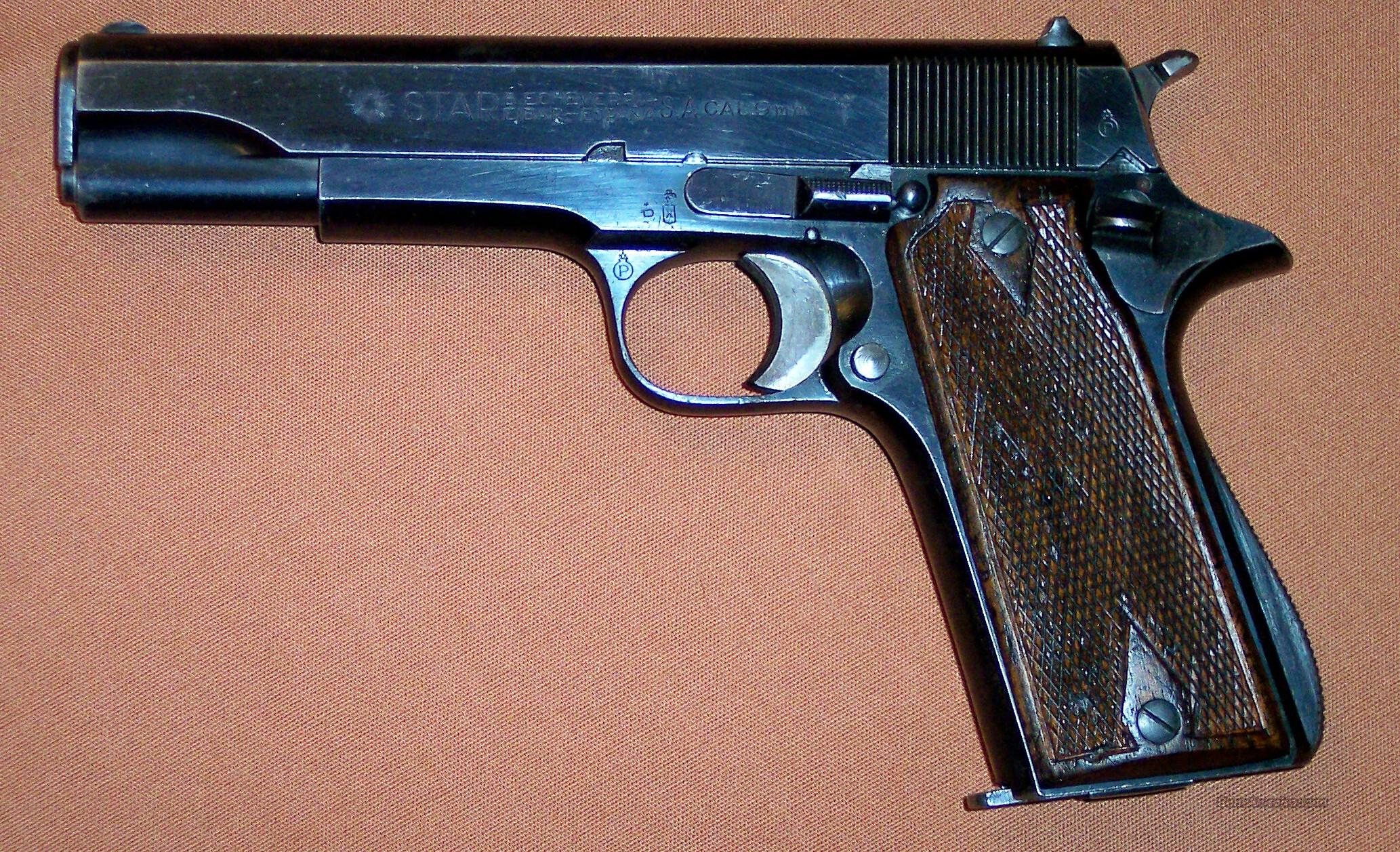 STAR Model B 9mm Made 1945  Guns > Pistols > Star Pistols