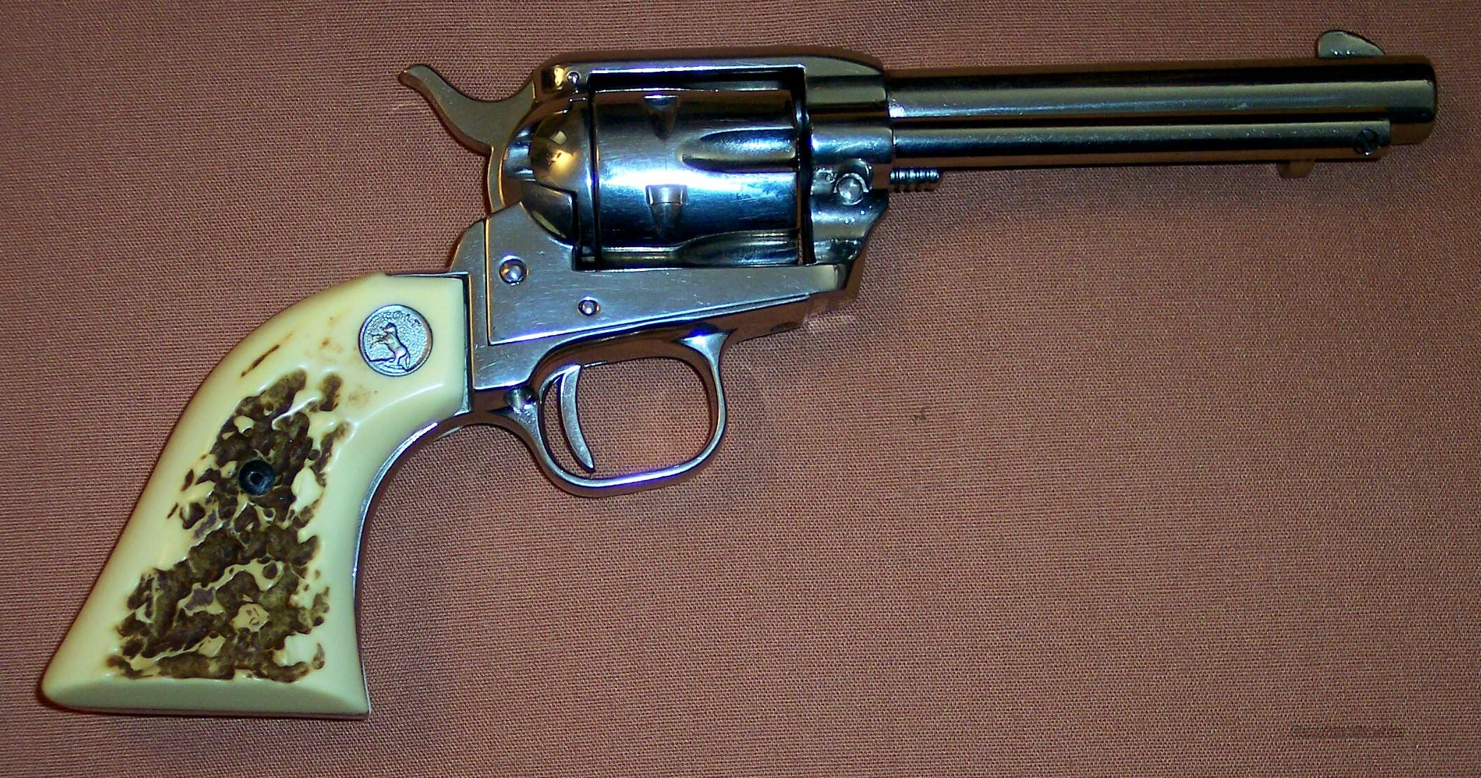 Colt Single Action Frontier Scout .22 LR Nickel  Guns > Pistols > Colt Single Action Revolvers - Modern (22 Cal.)