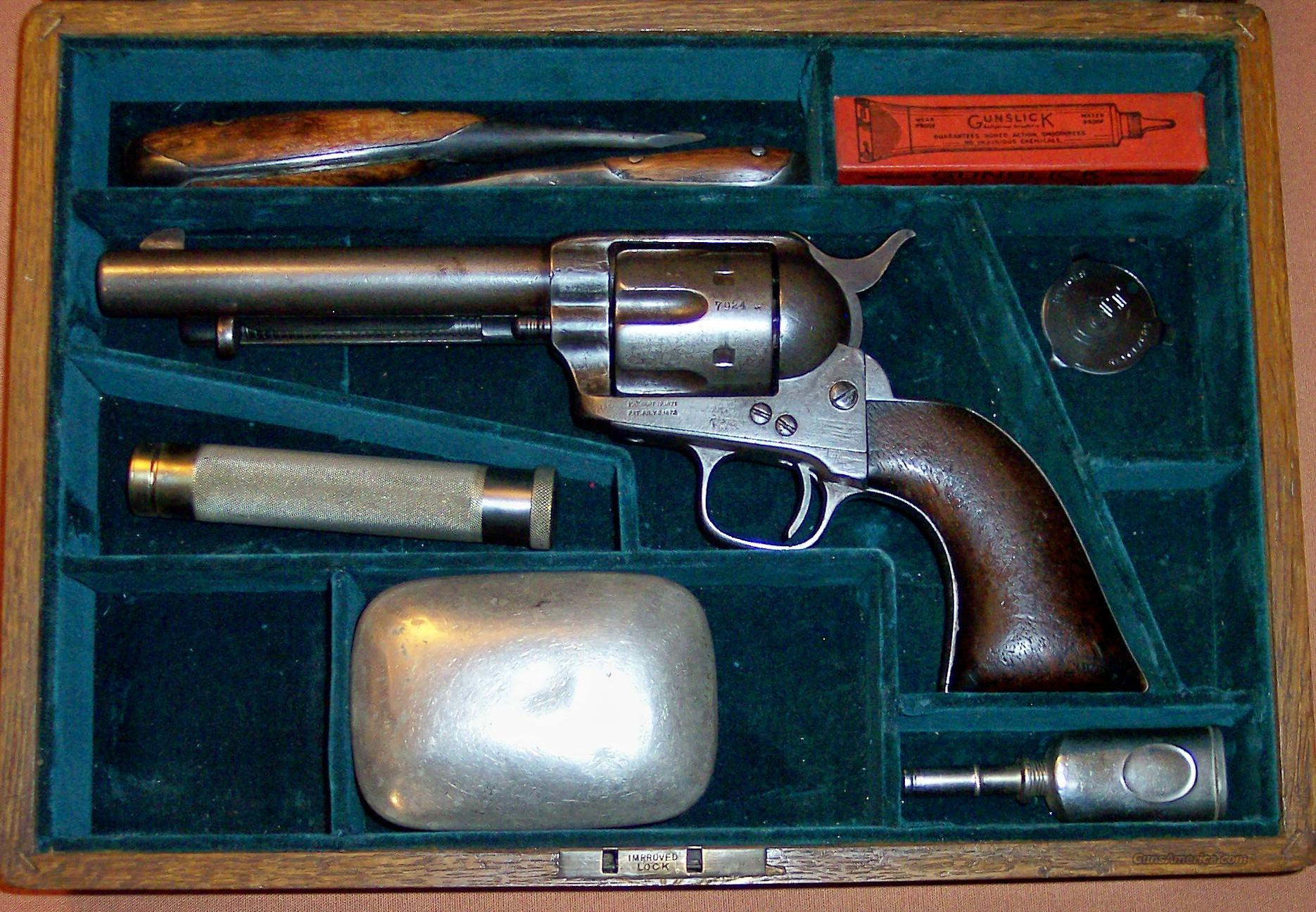 PRICE REDUCED - Colt Single Action Army,  .45 Eley Caliber, Shipped to London, 1876, Cased  Guns > Pistols > Colt Single Action Revolvers - 1st Gen.