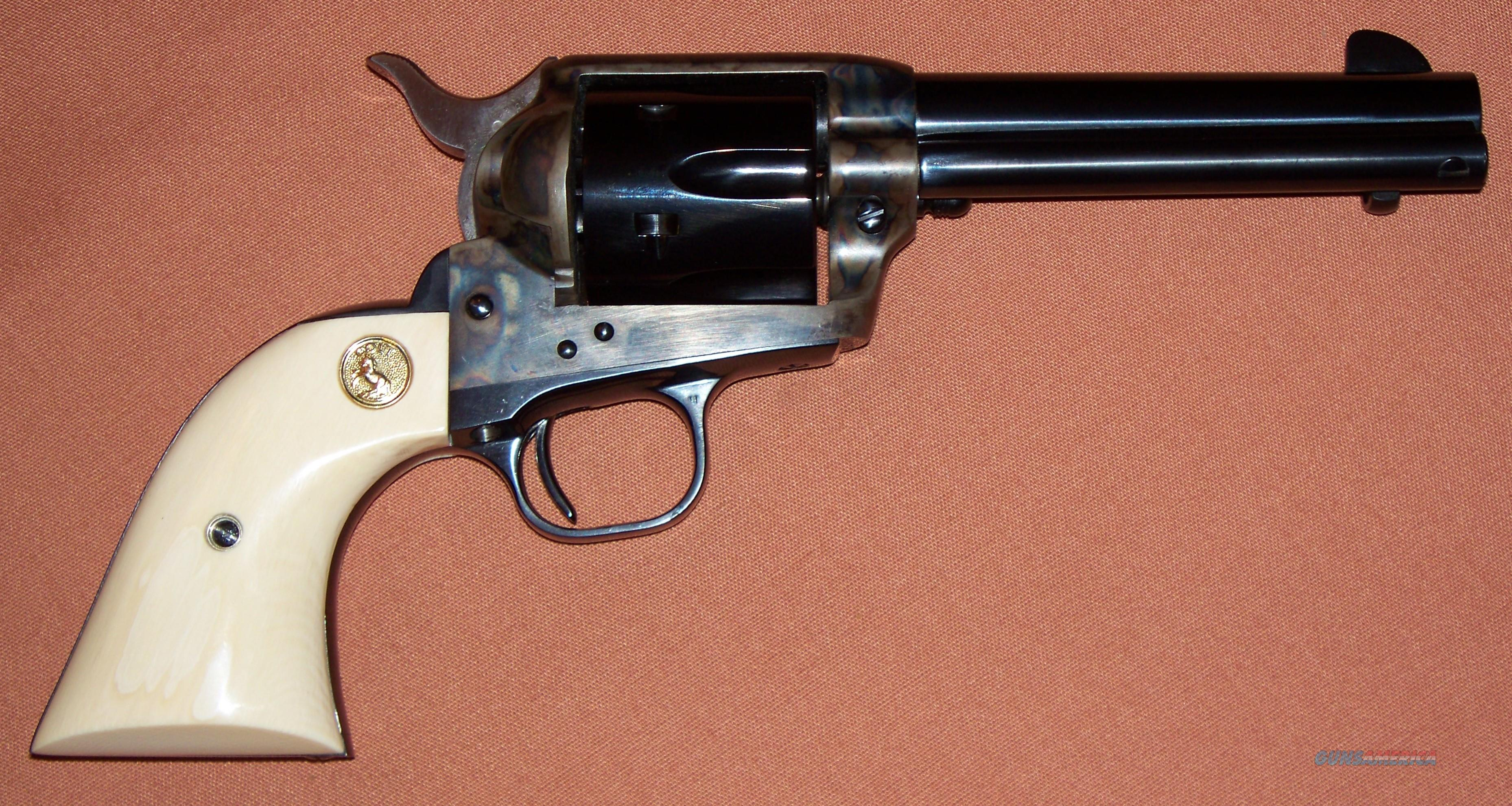 "Colt 3rd SAA Single Action Army Revolver 4.75"" Barrel 45/45 ACP Dual Cylinders Factory Ivory Grips  Guns > Pistols > Colt Single Action Revolvers - 3rd Gen."