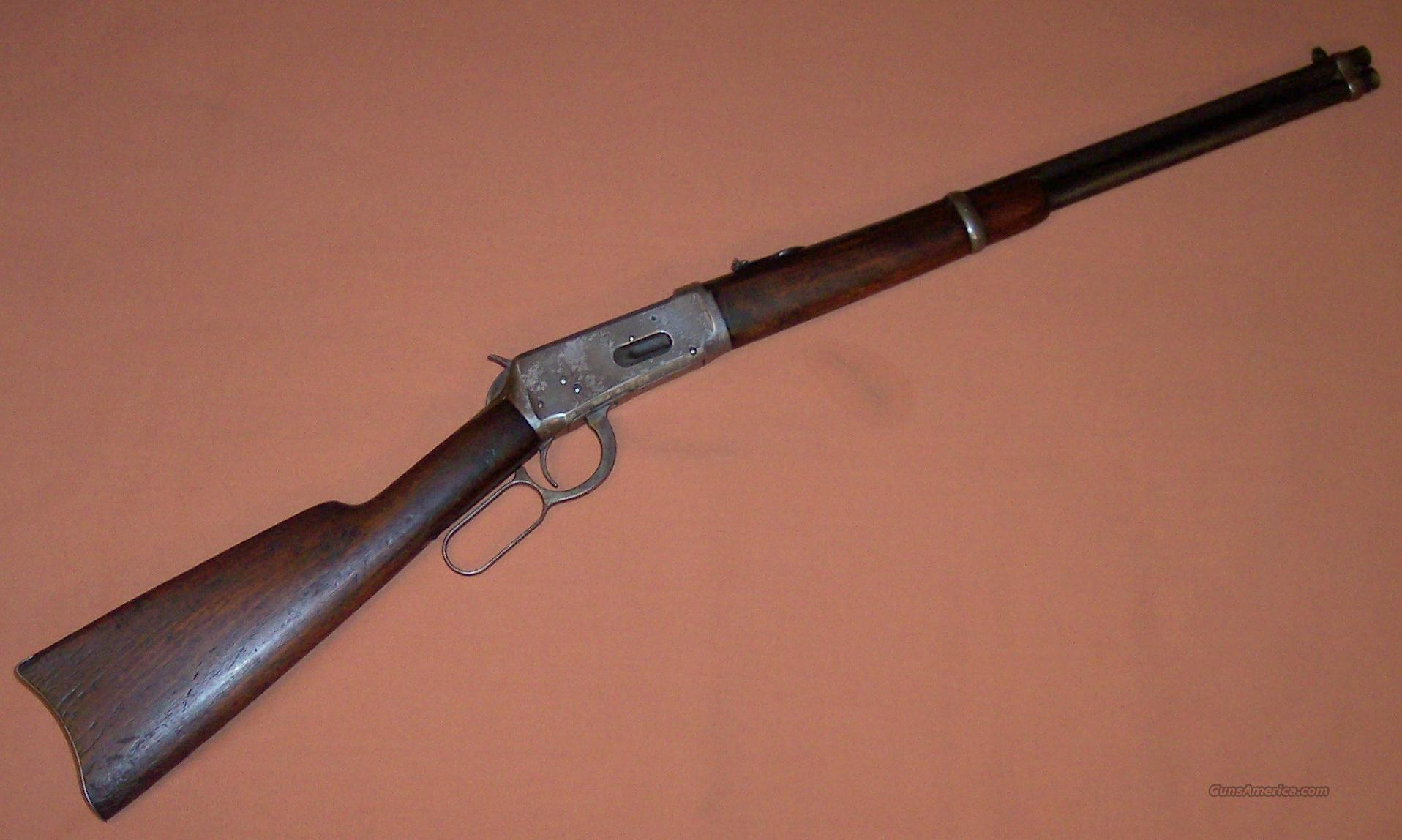 Winchester 1894 Saddle Ring Carbine in 25-35 WCF c. 1910  Guns > Rifles > Winchester Rifles - Modern Lever > Model 94 > Pre-64