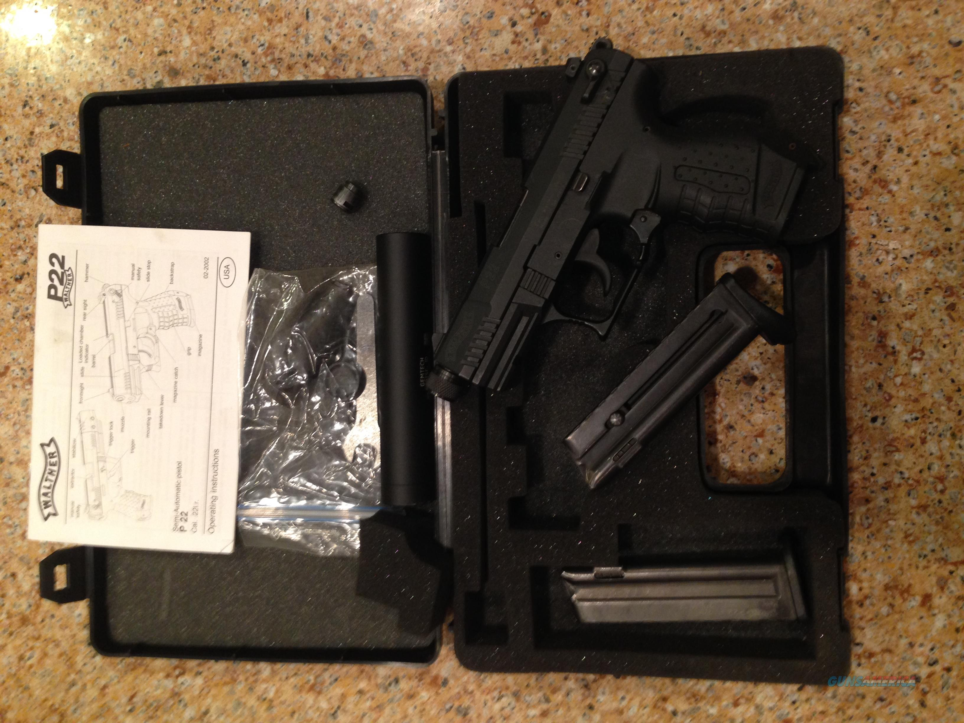 Flt Blk Wather P22  Guns > Pistols > Walther Pistols > Post WWII > P22