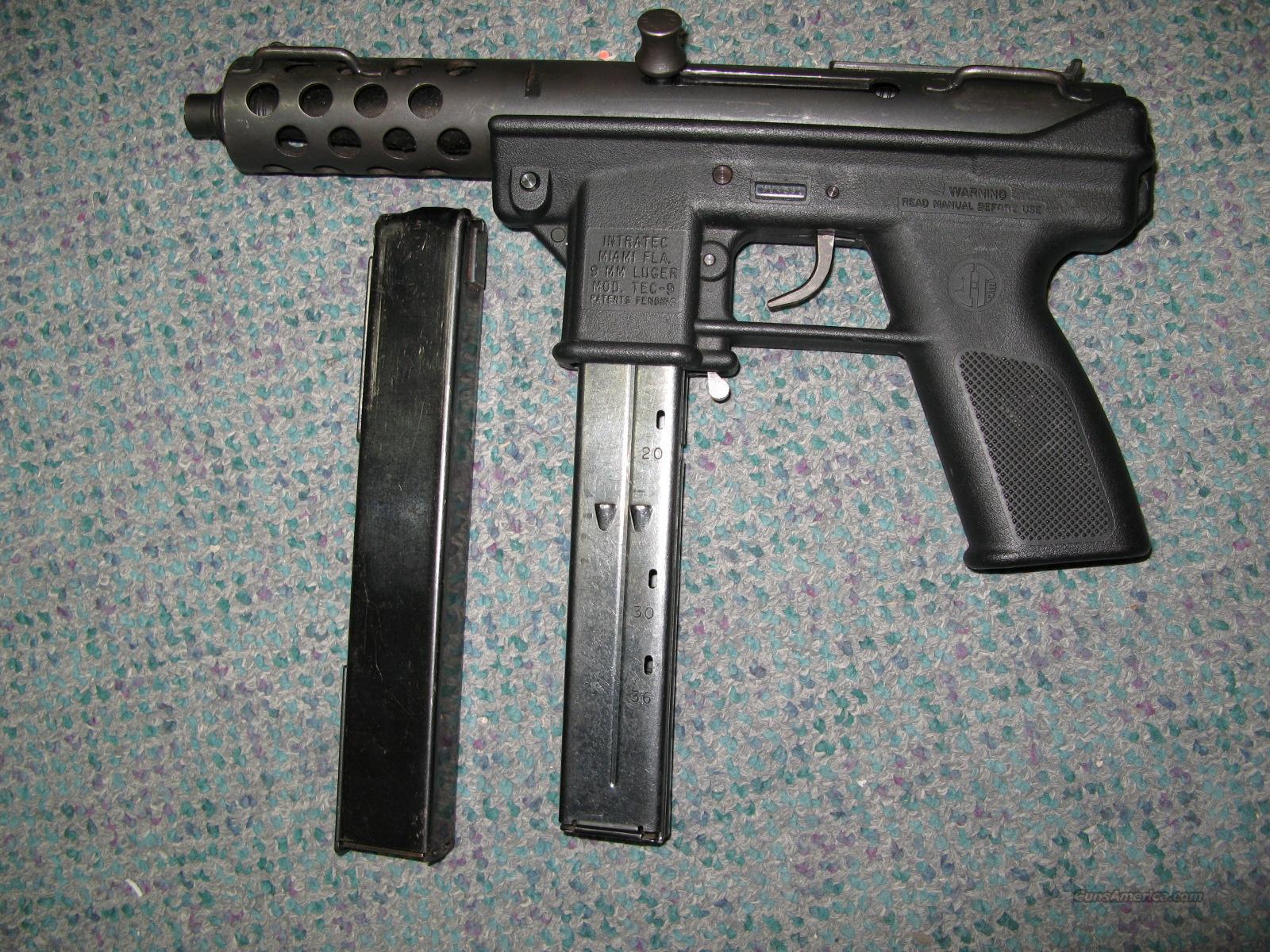 Intratec Tec 9 9mm Pistol For Sale
