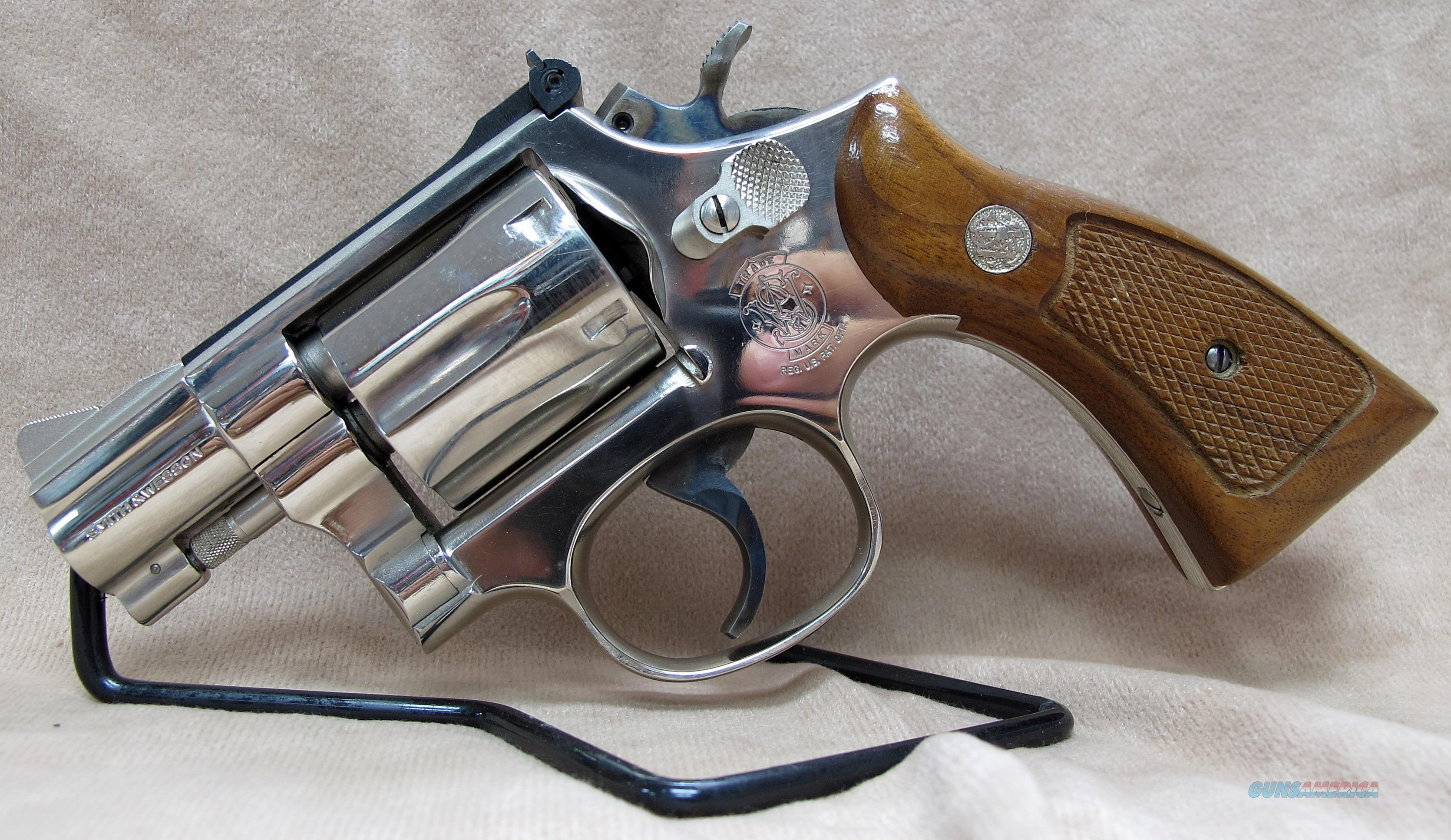 SMITH & WESSON MODEL 15-4 NICKEL  Guns > Pistols > Smith & Wesson Revolvers > Med. Frame ( K/L )