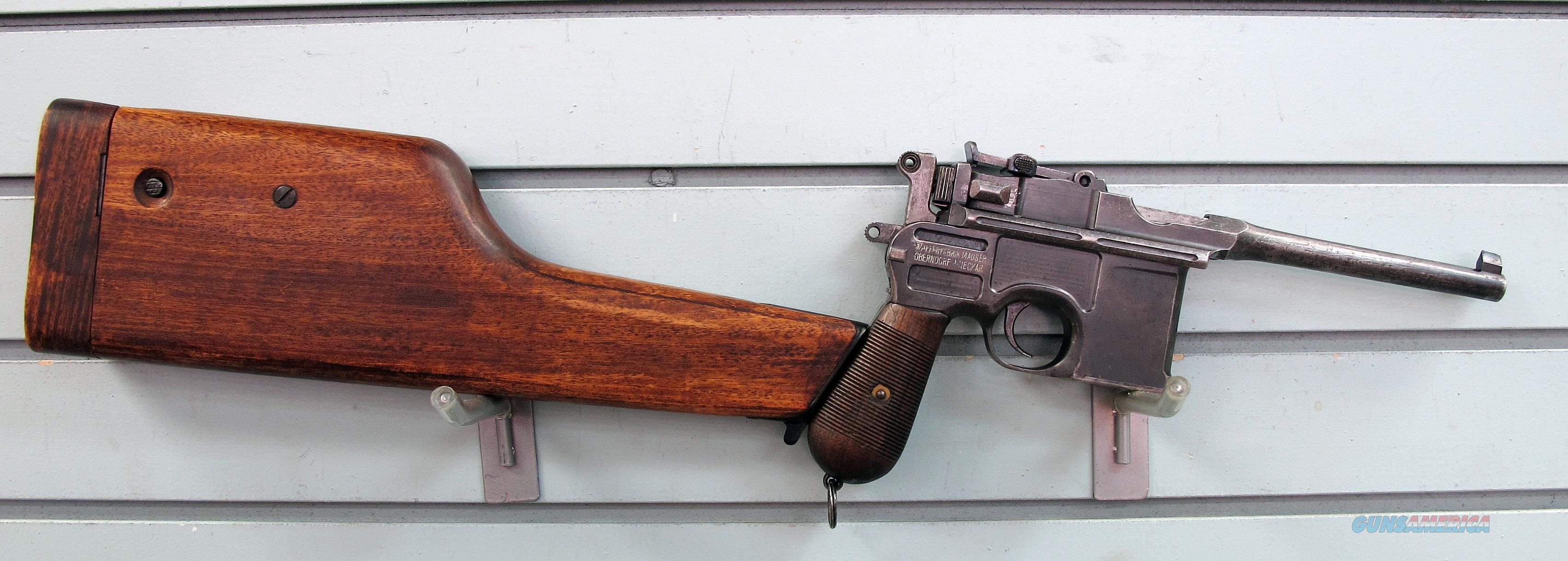 MAUSER BROOM HANDLE 30 MAUSER  Guns > Pistols > Mauser Pistols