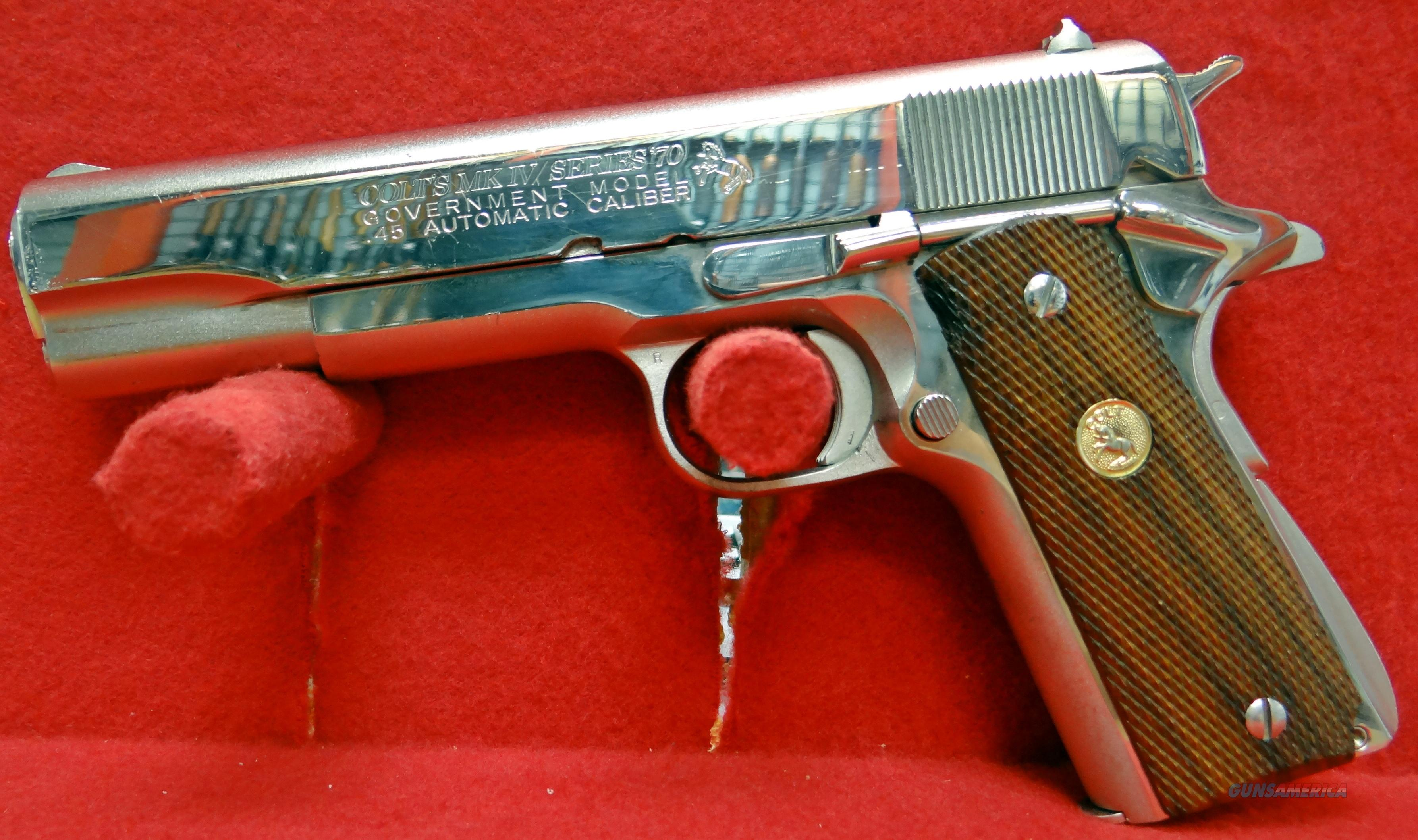 COLT SERIES '70 GOVERNMENT MODEL 45ACP  Guns > Pistols > Colt Automatic Pistols (1911 & Var)