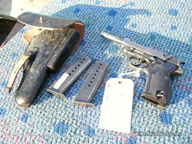 WALTHER WWII P-38 PISTOL cyq CODE with HOLSTER 1943   Guns > Pistols > Walther Pistols > Pre-1945 > P-38