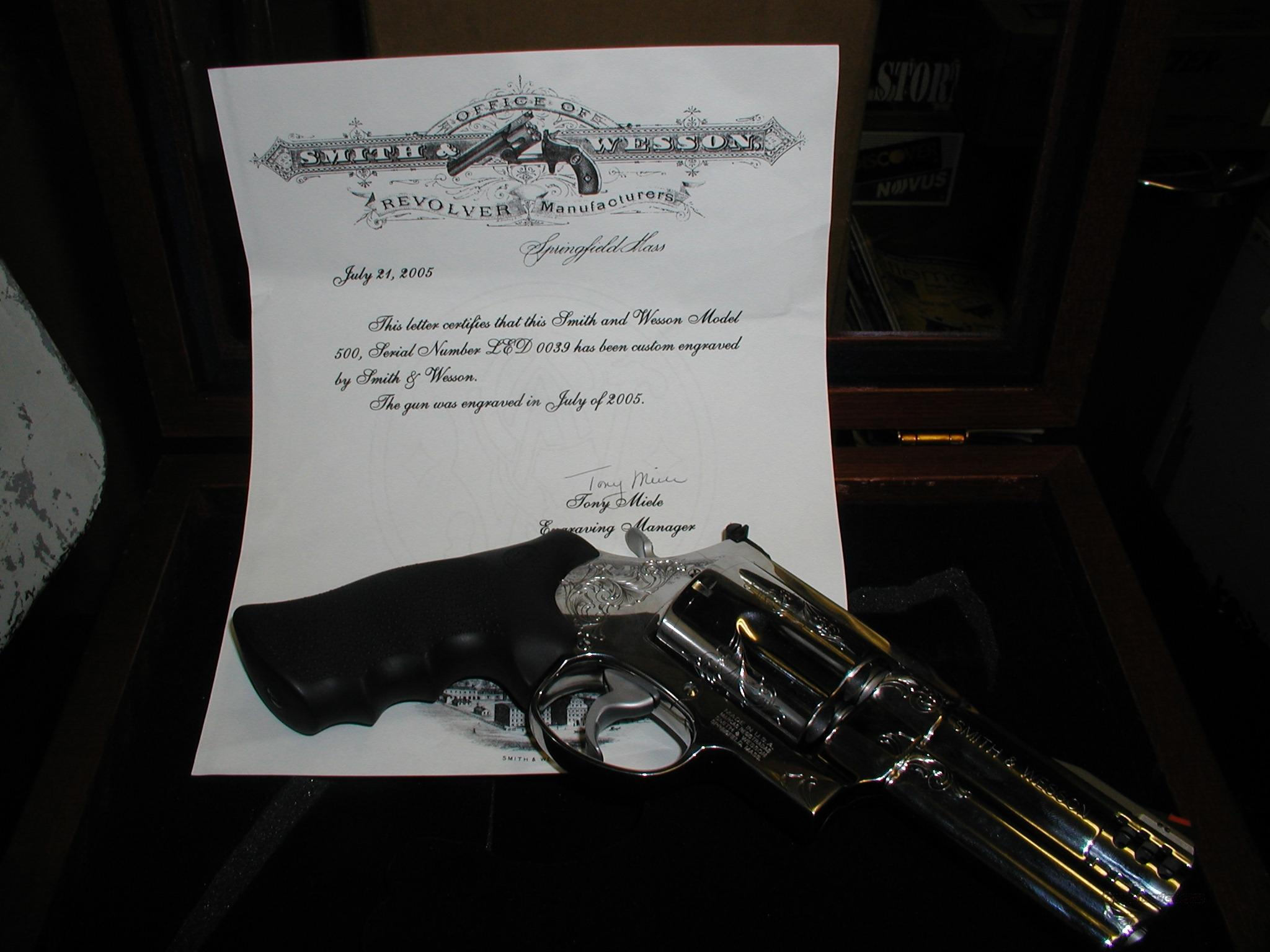 S&W 500 High Gloss SS Mag  Guns > Pistols > Smith & Wesson Revolvers > Full Frame Revolver