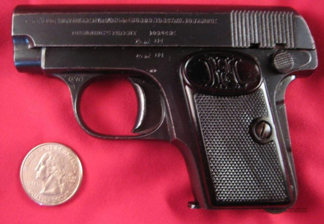 Browning FN 1905 Vest Pocket Pistol  Guns > Pistols > FNH - Fabrique Nationale (FN) Pistols > Pre-War