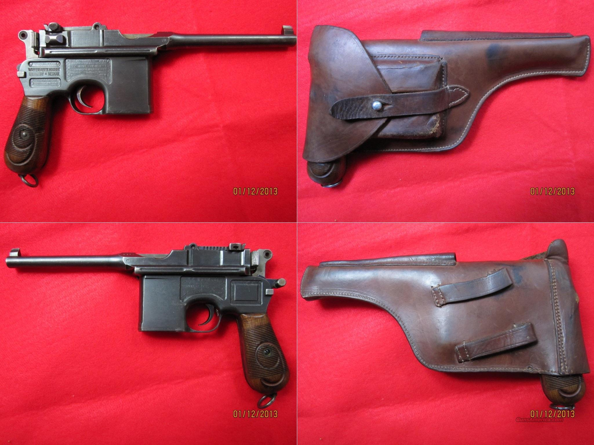 Mauser Broomhandle Red 9 in Excellent Condition  Guns > Pistols > Mauser Pistols