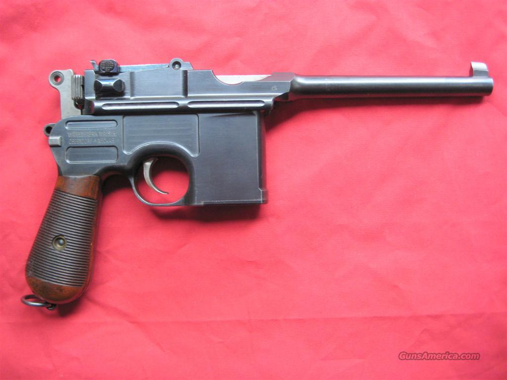MAUSER BROOMHANDLE WITH MATCHING STOCK  Guns > Pistols > Mauser Pistols