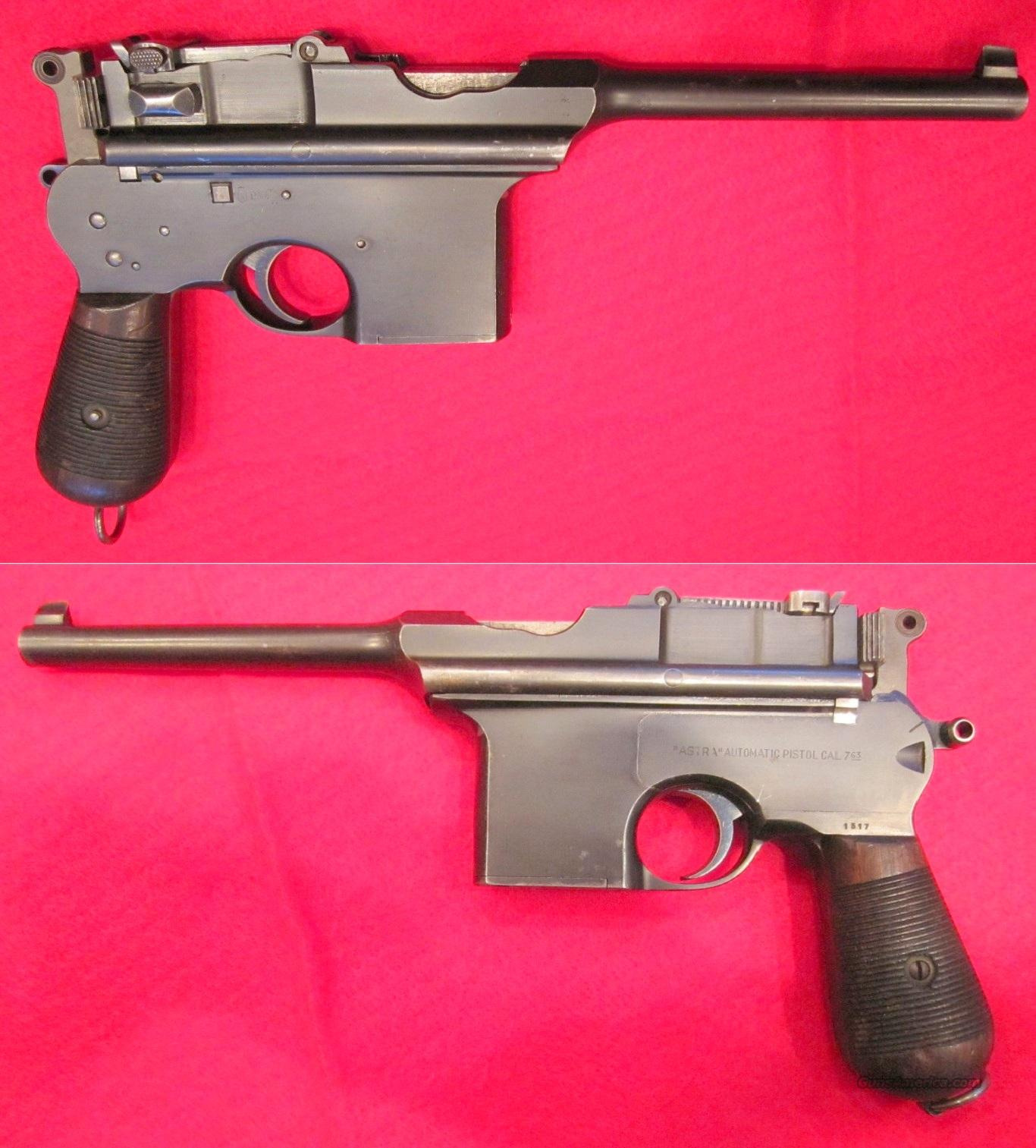 Early Astra 900 Broomhandle Pistol  Guns > Pistols > Astra Pistols