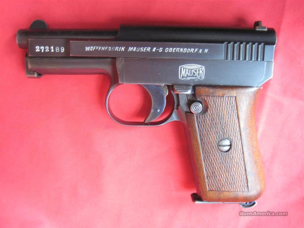 Mauser Model 1910 Portuguese Contract 6.34mm Pistol Rig  Guns > Pistols > Mauser Pistols