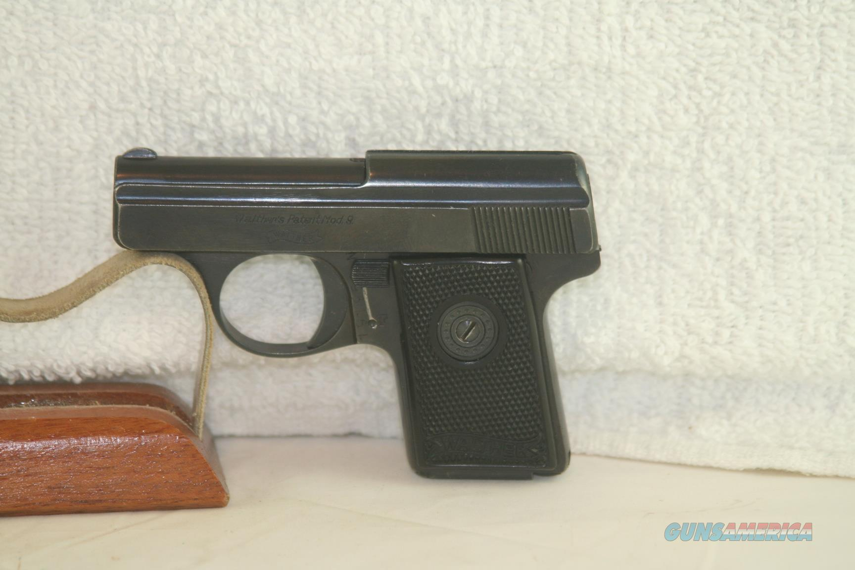 Walther Pre-War Model 9, 25 ACP  Guns > Pistols > Walther Pistols > Pre-1945 > Other