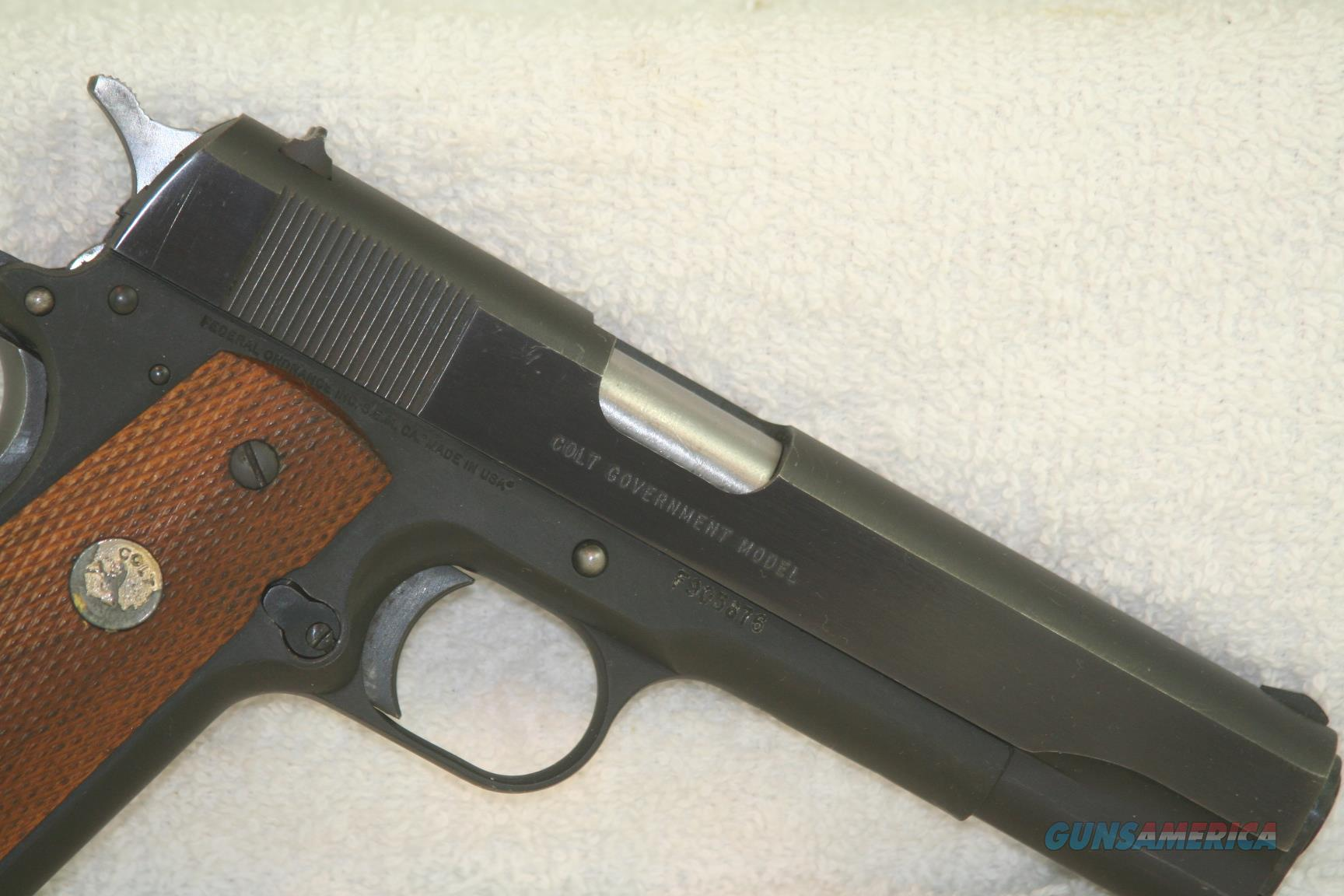 Colt/Federal Ord. Series 80 Government Model, 45 ACP,  Guns > Pistols > Colt Automatic Pistols (1911 & Var)