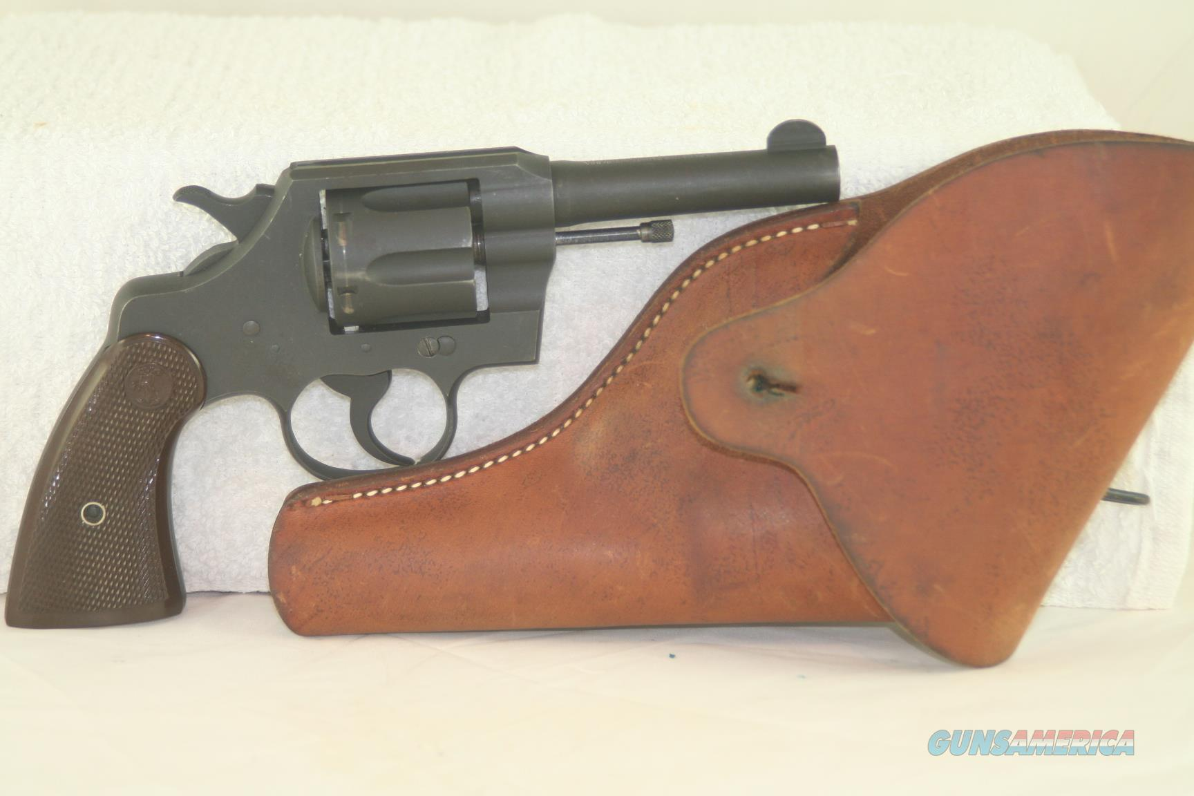 "Colt Commando 38 Spl revolver, 4"" barrel, excel bore, 98% original finish  Guns > Pistols > Colt Double Action Revolvers- Pre-1945"