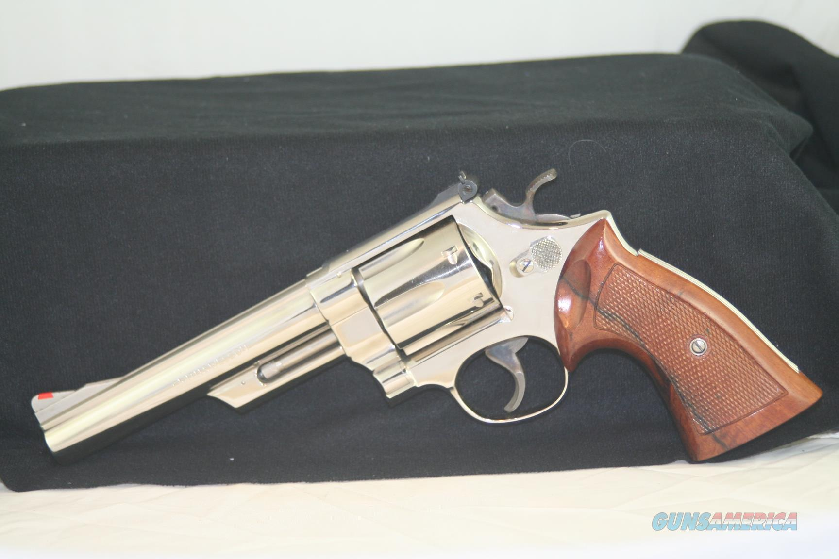 "S&W Model 57, no dash, 41 Mag, 6"" Nickel  Guns > Pistols > Smith & Wesson Revolvers > Full Frame Revolver"