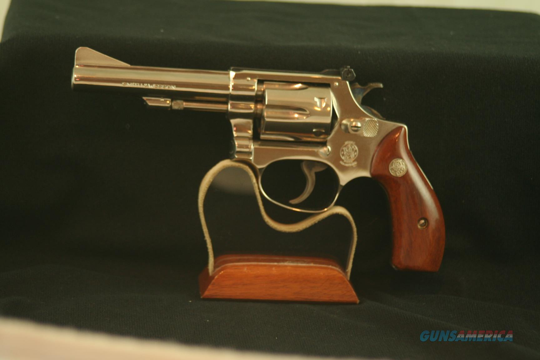 """Smith & Wesson Model 34-1, 22 LR, Nickle 4"""" barrel, in original box with tools  Guns > Pistols > Smith & Wesson Revolvers > Small Frame ( J )"""