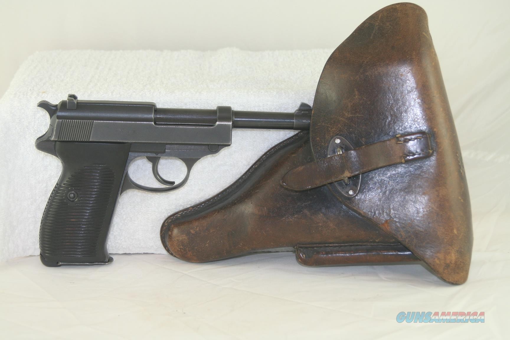 Walther P 38 made by Mauser in 1943, 9 M/M, 90% original finish. All matching numbers. Slide marked ac 43  Guns > Pistols > Walther Pistols > Pre-1945 > P-38