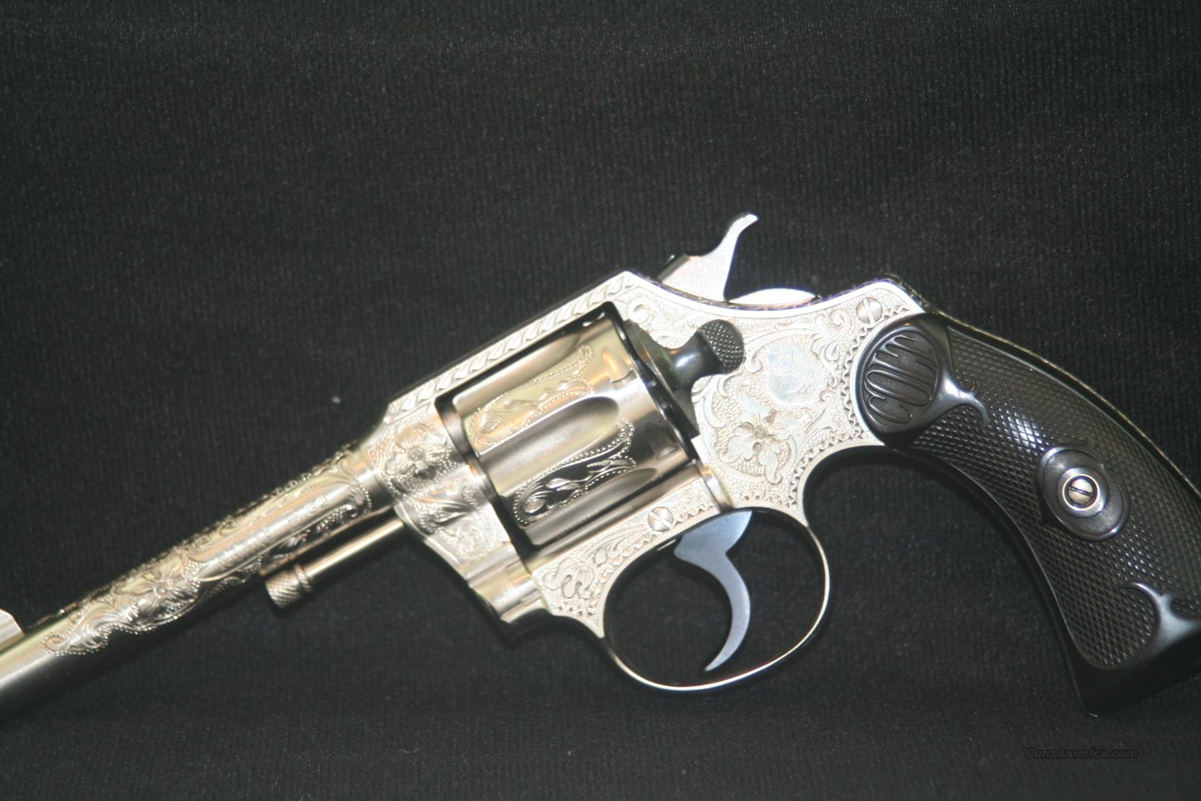 Colt Police Positive 32 Engraved by John Adams  Guns > Pistols > Colt Double Action Revolvers- Pre-1945