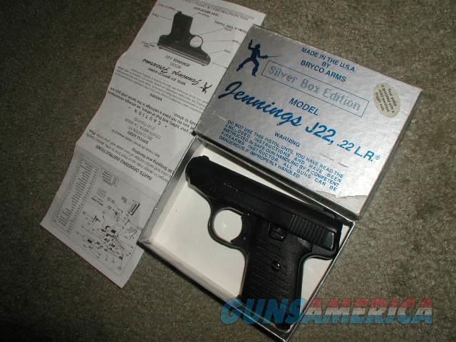 SILVER EDITION J-22 22LR BLUE IN BOX  Guns > Pistols > Jennings Pistols