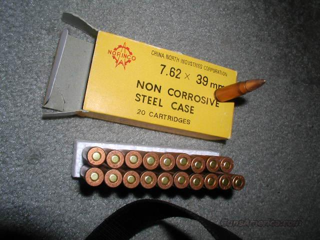 NORINCO  762X39 Lead Core Steel Case   Non-Guns > Ammunition