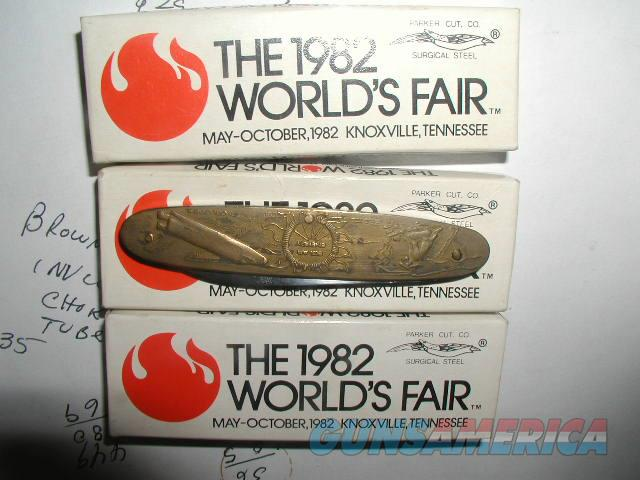 HAVE OTHER ITEMS THREE 1982 WORLD'S FAIR Knives NIB  Non-Guns > Knives/Swords > Knives > Folding Blade > Imported
