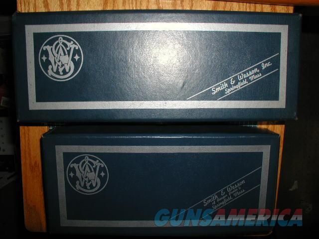 TWO PIECE S&W MODEL 27 3.5 INCH BLUE BOX $ 150  Non-Guns > Gun Cases